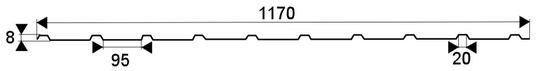 Trapézový profil TR 08