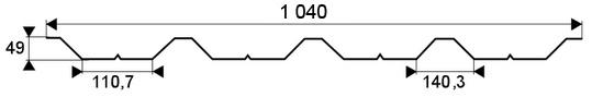 TR-50 / t50 / T-50 trapezovy profil farebny - LPL / lakoplast