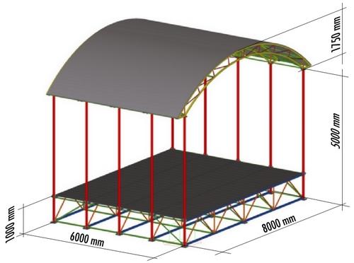 TANEČNÉ PÓDIUM (javisko) 8 x 6 m - ZANZI - rozmery