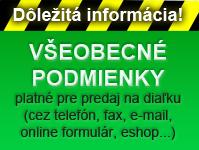 Podmienky nákupu plachových profilov cez e-mail alebo telefón ZANZI