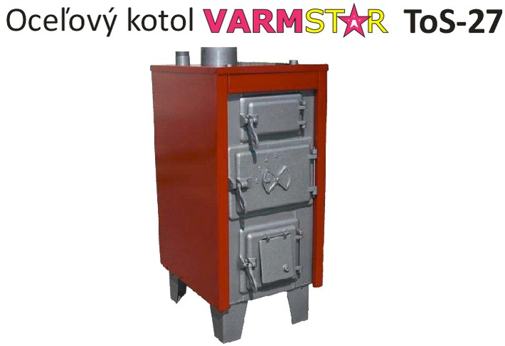 31 kW kotol na drevo a uhlie VARMSTAR ToS-27